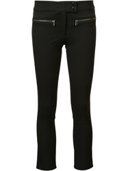 Veronica Beard Slim Fit Cropped Trousers Black