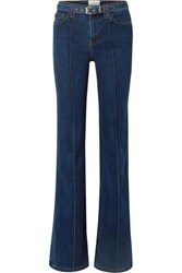 Current Elliott The Admirer Belted High Rise Flared Jeans Dark Denim