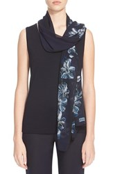 Women's St. John Collection Island Floral Print Silk Georgette Scarf