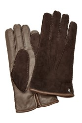 Tod's Tods Suede And Leather Gloves Brown