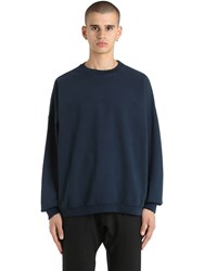 Yeezy Crewneck Cotton Sweatshirt Blue