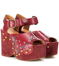 Marc Jacobs Dawn Wedge Sandals Pink