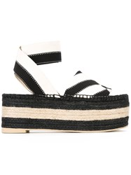 Stella Mccartney Flatform Espadrille Sandals Black