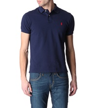 Ralph Lauren Customfit Mesh Polo Shirt Newport Navy