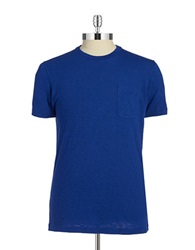 Brooks Brothers Red Fleece Crew Neck Tee Bright Blue