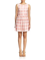 Marc By Marc Jacobs Blurred Gingham Cotton And Silk Dress Piggy Pink