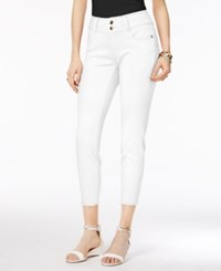 Thalia Sodi Double Button Skinny Ankle Pants Only At Macy's Bright White