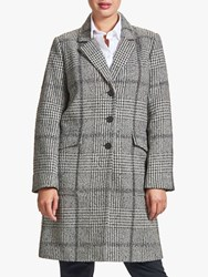 Four Seasons Check Patch Coat Grey