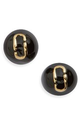Marc By Marc Jacobs Women's Icon Enamel Ball Stud Earrings Black