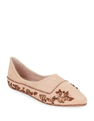 Free People Parissa Suede Pointed Toe Flats Blush