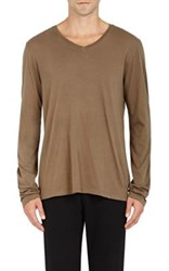 Earnest Sewn Men's Jeremy Pima Cotton Shirt Brown