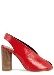 Isabel Marant Meirid Red Patent Leather Sandals