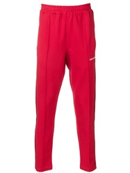 Les Artists Art Ists Side Stripe Track Pants Red