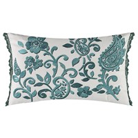 William Yeoward Floretta Paisley Cushion 60X40cm Peacock