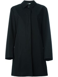 Paul Smith Ps By Single Button Flared Coat Black