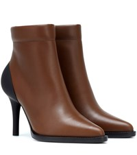 Chloe Tracey Leather Ankle Boots Brown