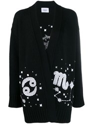 Dondup Oversized Embroidered Cardigan Black