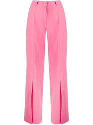 Sjyp Front Slit Trousers Pink