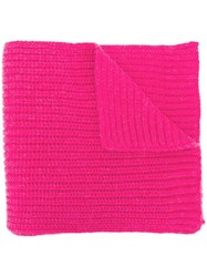 Closed Ribbed Scarf Pink