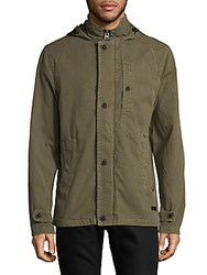 Civil Society Woven Cotton Hooded Jacket Olive