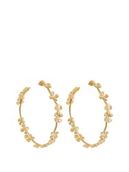 Aurelie Bidermann Tamar Gold Plated Earrings Yellow Gold