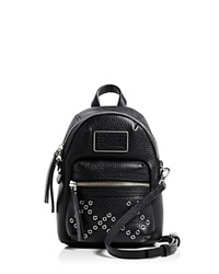 Marc By Marc Jacobs Bloomingdale's Exclusive Domo Biker Grommet Mini Backpack Crossbody Black