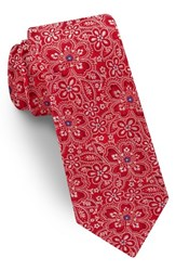Ted Baker London Floral Silk Tie Red