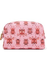 Aerin Beauty Johanna Ortiz Small Printed Canvas Cosmetic Case Pink