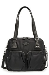 M Z Wallace Mz Wallace 'Small Roxy' Shoulder Bag Black Black With Mineral Leather