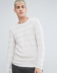 Selected Homme Knitted Jumper In 100 Cotton Egret Cream