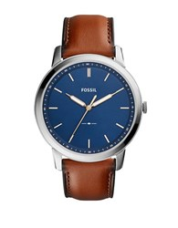Fossil Casual The Minimalist 3H Blue Dial Watch Brown