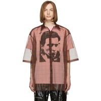 Raf Simons Red And Pink Layered Short Sleeve Shirt