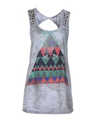 Silvian Heach Topwear Vests Women Grey