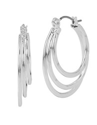 Robert Lee Morris Boho City Entwined Hoop Earrings Silver