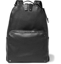 Valentino Studded Full Grain Leather Backpack Black