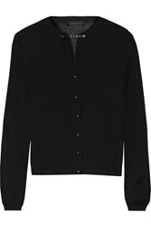 Belstaff York Chain Embellished Cashmere And Silk Blend Cardigan Black