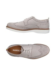 Manuel Ritz Lace Up Shoes Light Grey
