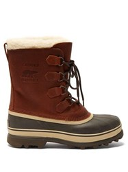 Sorel Caribou Faux Shearling Lined Snow Boots Brown