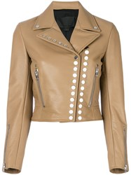 Alexander Wang Cropped Motor Jacket Nude And Neutrals
