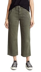 Hudson Midrise Straight Crop Cargo Pants Military Green