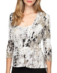 Alex Evenings Abstract Print Twinset Black White
