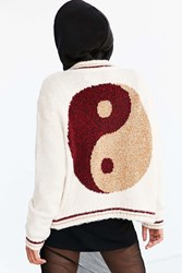 Ecote Icon Bomber Sweater Cream Multi
