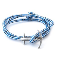 Anchor And Crew Blue Dash Admiral Rope Bracelet
