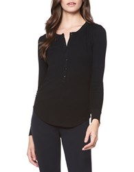 David Lerner Maddisson Long Sleeve Henley Shirt Black