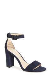 Pelle Moda Women's 'Bonnie' Ankle Strap Sandal Midnight Blue Leather