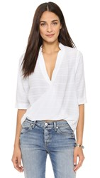 Maven West Kate Surplice Collared Blouse White