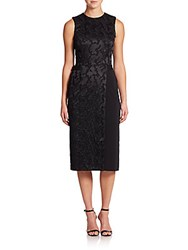 A.L.C. Andrew Mesh Backed Satin Dress Black