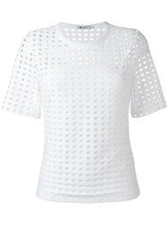 Alexander Wang T By Perforated Jacquard T Shirt White