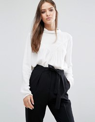 Selected Femme High Neck Blouse Snow White