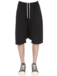 Rick Owens Drawstring Cotton Blend Shorts